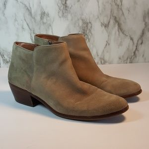 Sam Edelman Petty Taupe Suede Boots 10 F66